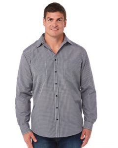 Lowes Black Houndstooth Long Sleeve Shirt | Lowes | Shirts | Lowes