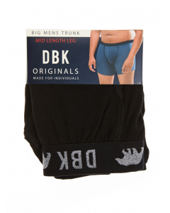 DBK Plain Black Trunks
