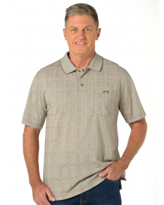 Cougars Taupe Jacquard Knit Polo | Cougars | Tops | Lowes