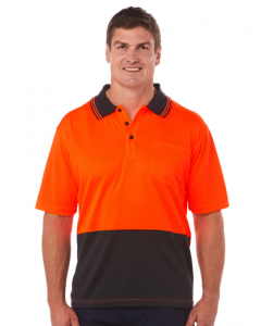Traders Orange & Navy Cool Dry Hi-Vis Polo | Traders | Shirts | Lowes