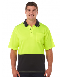 Traders Yellow & Navy Cool Dry Hi-Vis Polo | Traders | Shirts | Lowes