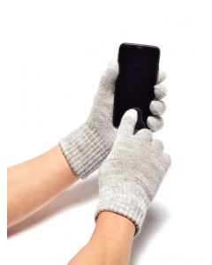 Lowes Silver Full Finger Touch Screen Tip Gloves