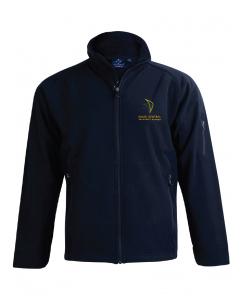 Navy Softshell Jacket With Embroidery