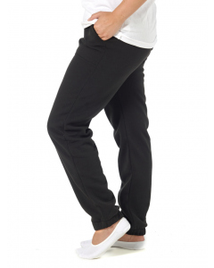 Lowes Unisex Black Knitted Fleece Trackpants