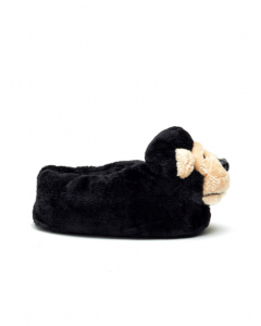 Lowes Black Puppy Character Plush Slipper | Lowes | Slippers | Lowes