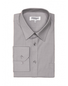 Lowes Essentials Grey Long Sleeve Business Shirt