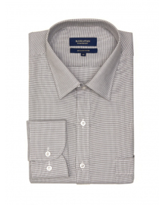 Manhattan Slate Grey Long Sleeve Business Shirt | Manhattan | Shirts | Lowes
