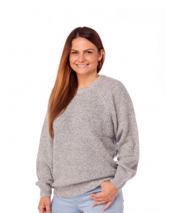 Unisex Silver Marle Loose Knit Jumper | Elliotts | Tops | Lowes
