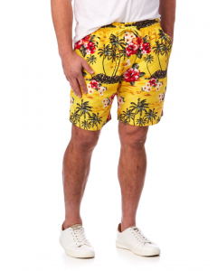 Lowes Yellow Island Elastic Waist Printed Shorts | Lowes | Shorts | Lowes