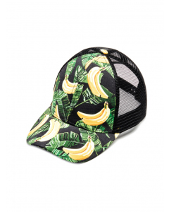 Riley Adams Banana Print Net Back Baseball Cap