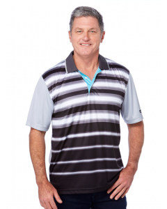 Cougars Grey Stripe Quik-Dry Sublimated Print Polo | Cougars | Tops | Lowes