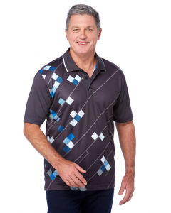 Cougars Charcoal Quik-Dry Sublimated Print Polo   Cougars   Tops   Lowes