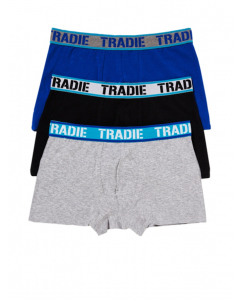 Tradie Sea Spray 3 Pack Fitted Trunks