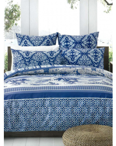 Avoca Blue 3 piece Quilt Cover Set | Natalie Engdahl | Bedding | Lowes