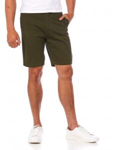 Traders Olive Slim Fit Stretch Fixed Waist Shorts
