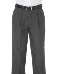 Grey Serge College Trousers