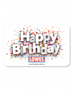 Lowes E-Gift Card - Happy Birthday Confetti